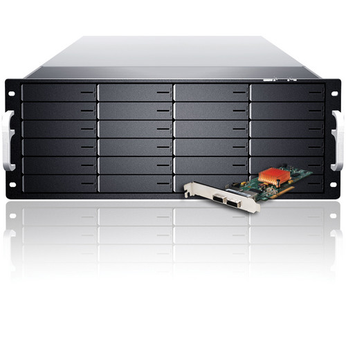Sans Digital EliteSTOR ES424X6+BSHG 4U 24-Bay 6G SAS/SATA Rackmount (Single PS)