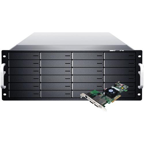 Sans Digital EliteSTOR ES424X6+BSHP 4U 24-Bay 6G SAS/SATA RAID PCIe 2.0 Rackmount