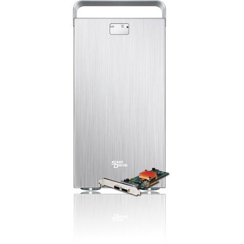 Sans Digital MobileSTOR MS8X+HG 8-Bay 6G SAS/SATA RAID Tower (Silver)