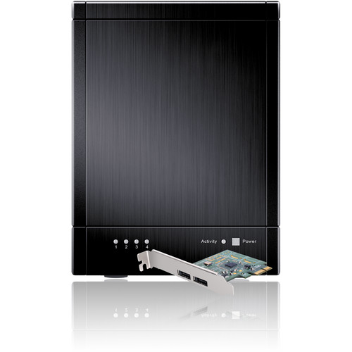 Sans Digital TowerRAID TR4M-B 4-Bay eSATA Port Multiplier JBOD Enclosure (Black)