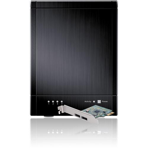 Sans Digital TowerRAID TR4UT+B USB 3.0/eSATA RAID 5 Tower with PCIe 2.0 HBA (Black)