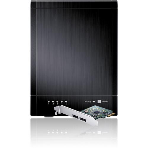 Sans Digital TowerRAID TR5M+B 5-Bay eSATA RAID Tower with 6G PCIe Card (Black)