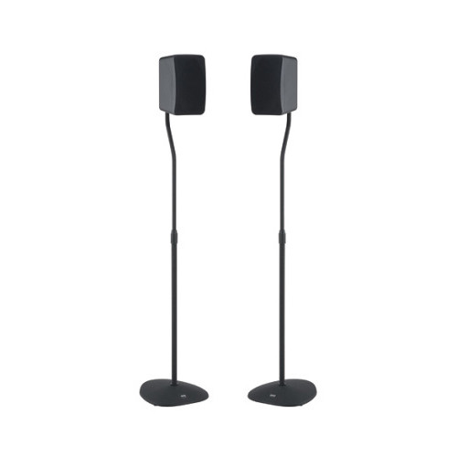 SANUS VuePoint HTBS Adjustable Satellite Speaker Stands (Black, Pair)