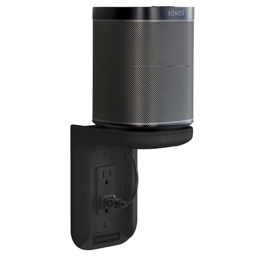 SANUS WSOS1 Outlet Shelf for the Sonos One, One SL, and PLAY:1 Speakers (Black, Single)