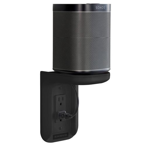 SANUS Outlet Shelf for Sonos One & PLAY:1 (Black, Single)