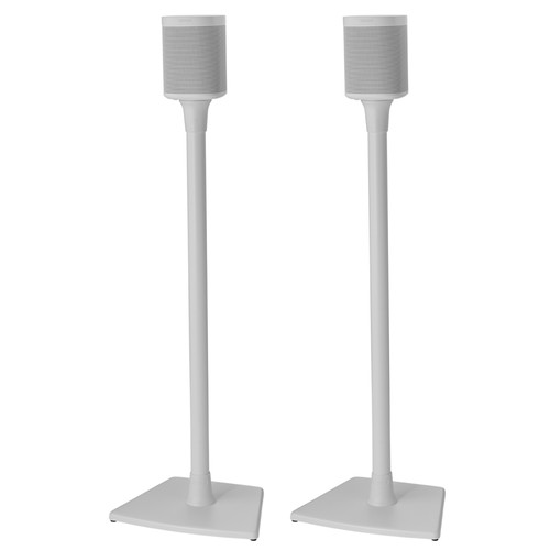 SANUS WSS22 Wireless Speaker Stands for the Sonos One, PLAY:1 & PLAY:3 (White, Pair)