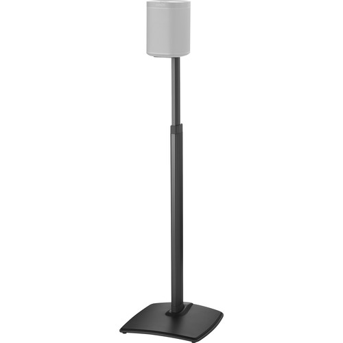 SANUS WSSA1 Adjustable Speaker Stand for the Sonos One, PLAY:1, and PLAY:3 (Black, Single)