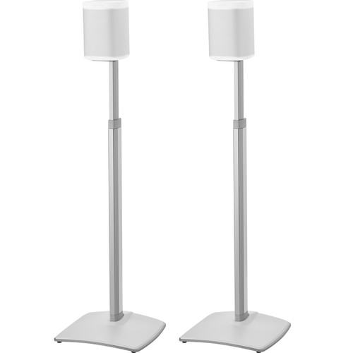 SANUS WSSA2 Adjustable Speaker Stands for the Sonos One, PLAY:1, and PLAY:3 (White, Pair)