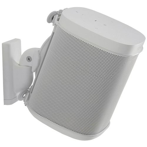 SANUS WSWM21 Wireless Speaker Wall Mount for the Sonos One, PLAY:1, & PLAY:3 (White, Single)