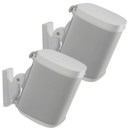 SANUS WSWM22 Wireless Speaker Wall Mounts for the Sonos One, PLAY:1, & PLAY:3 (White, Pair)