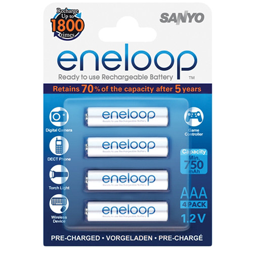 Sanyo Eneloop Rechargeable AAA Ni-MH Batteries (4-Pack)