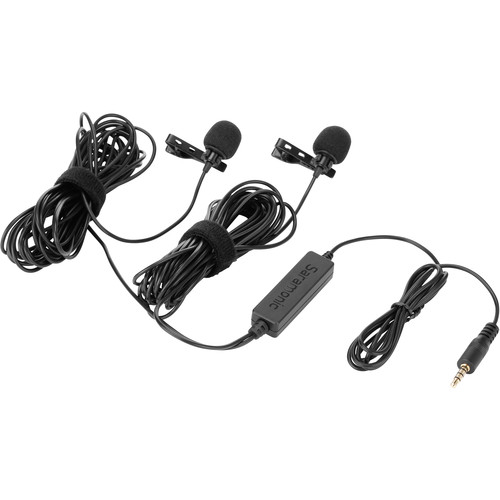 Saramonic Dual Wired Lavalier Microphones for Capturing Two People's Voices