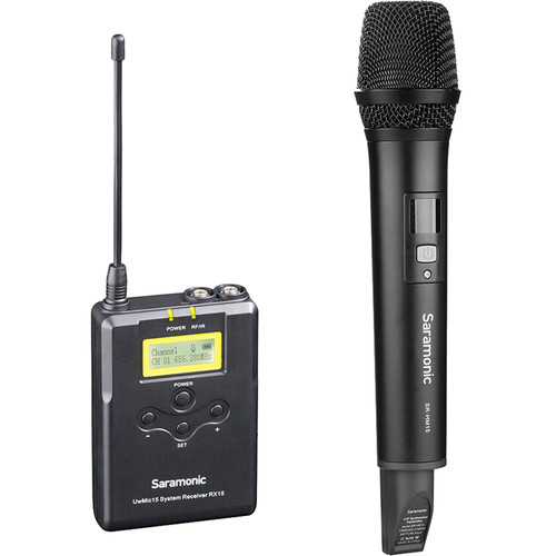 Saramonic UwMic15A Camera-Mount Wireless Handheld Microphone System (555 to 579 MHz)