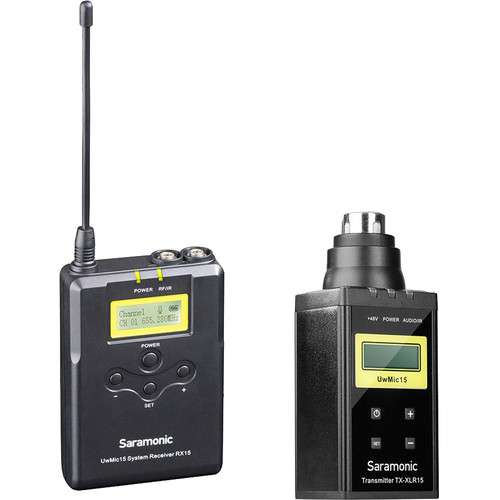 Saramonic UwMic15B Camera-Mount Wireless System with Plug-On Transmitter (555 to 579 MHz)