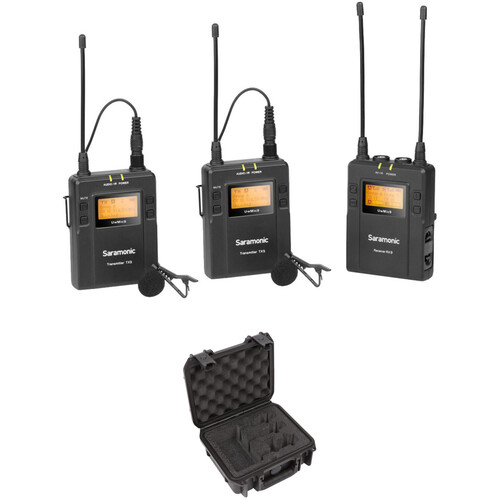 Saramonic UwMic9 2-Person Camera-Mount Wireless Omni Lavalier Mic System & Case Kit (514 to 596 MHz)