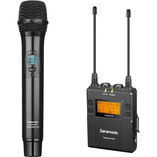 Saramonic UWMIC9RX9+HU9 Dual-Channel Wireless Handheld Microphone System (514 to 596 MHz)