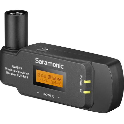 Saramonic RX-XLR9 Dual-Channel Wireless Plug-On Receiver for UwMic9 System (514 to 596 MHz)
