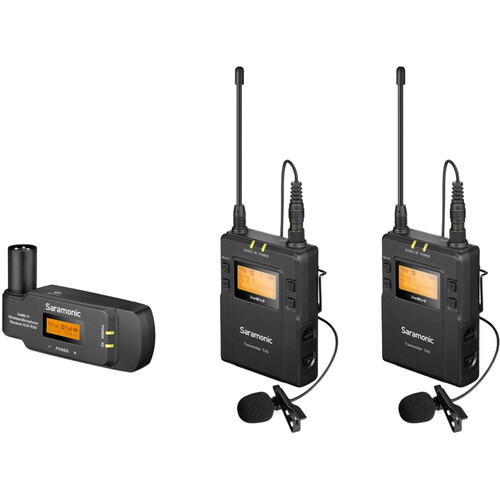 Saramonic UwMic9 2-Person Camera-Mount Wireless Omni Lavalier Microphone System with Plug-In Receiver (514 to 596 MHz)