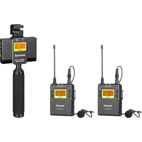 Saramonic UwMic9 2-Person Camera-Mount Wireless Omni Lavalier Microphone System for Smartphones (514 to 596 MHz)