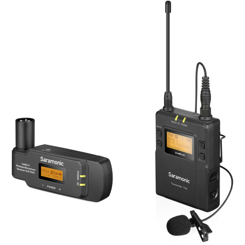 Saramonic UwMic9 UHF Wireless Lavalier Mic System with Plug-On Receiver (514 to 596 MHz)