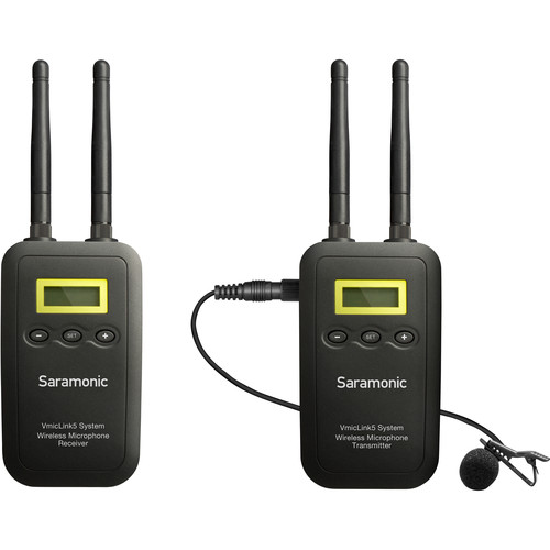 Saramonic 5.8 GHz Wireless Lavalier System for DSLR, Mirrorless, and Video Cameras