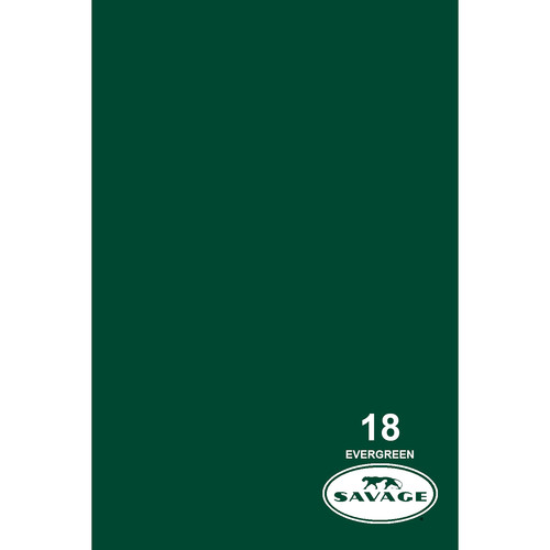 "Savage Widetone Seamless Background Paper (#18 Evergreen, 86"" x 36')"