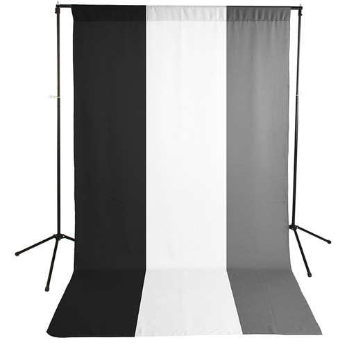 Savage Economy Background Support Stand with White, Black, and Gray Backdrops