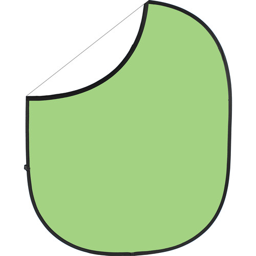 Savage Collapsible/Reversible Background (5 x 6', Light Green/White)