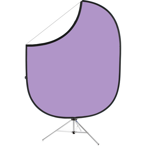 "Savage Collapsible Stand Kit (60 x 72"", Light Purple/White)"