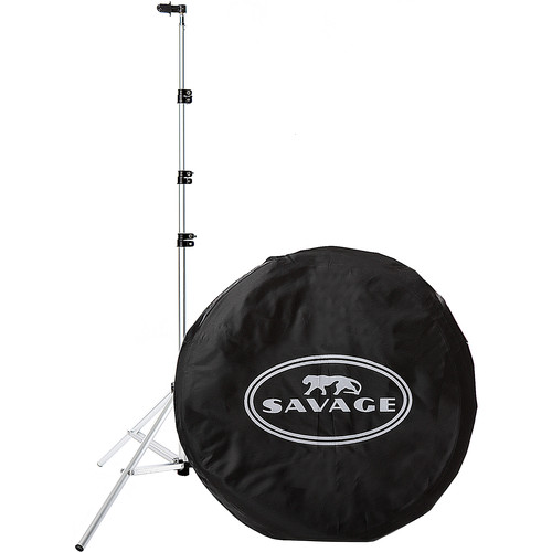 "Savage Collapsible Stand Kit (60 x 72"", Navy Blue/White)"