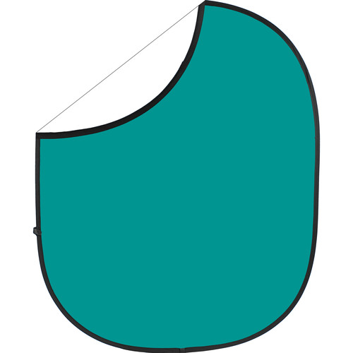 Savage Collapsible/Reversible Background (5 x 6', Teal/White)
