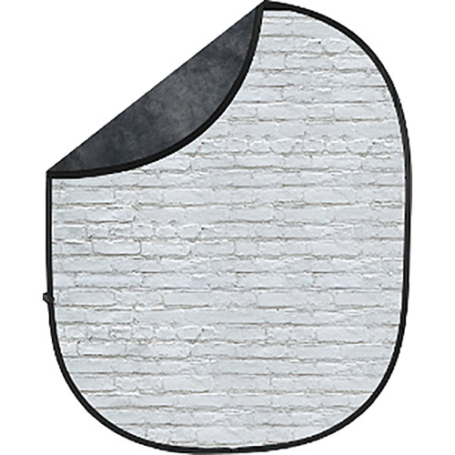 Savage Collapsible 5 x 7' Backdrop (White Brick/Dark Gray)