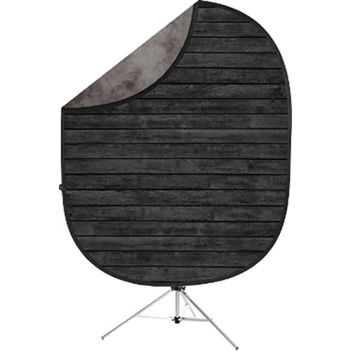 Savage Collapsible 5 x 7' Backdrop with 8' Stand Kit (Dark Planks/Light Gray)
