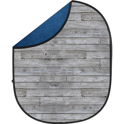 Savage Collapsible 5 x 7' Backdrop (Gray Pine/Blue)