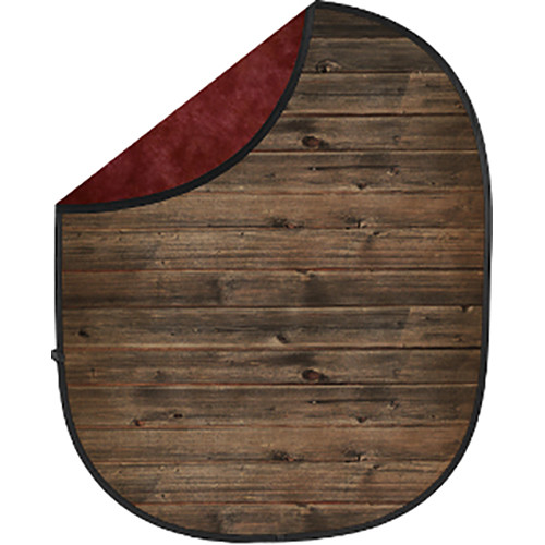 Savage Collapsible 5 x 7' Backdrop (Rustic Planks/Red)