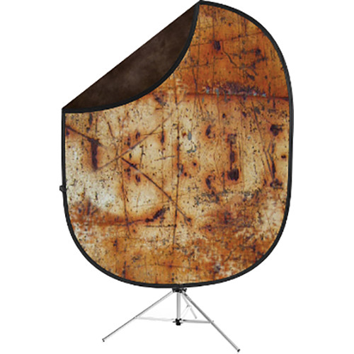Savage Collapsible 5 x 7' Backdrop with 8' Stand Kit (Industrial Grunge/Brown)