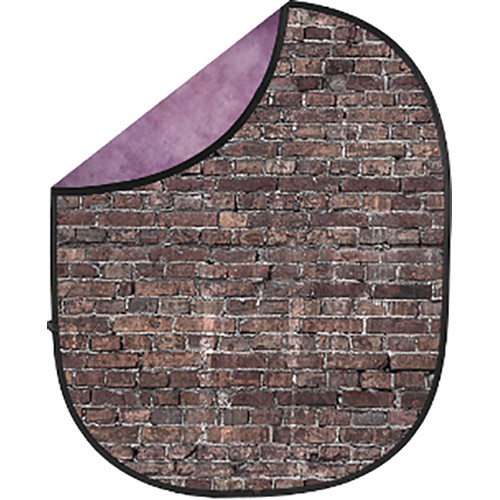 Savage Collapsible 5 x 7' Backdrop (Grunge Brick/Purple)
