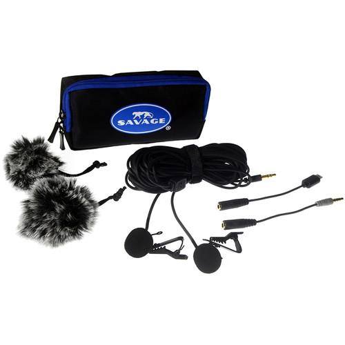 Savage Dual Head Lapel Microphone