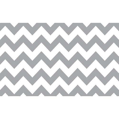 "Savage Printed Background Paper (53"" x 18', Gray & White Chevron)"