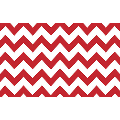 "Savage Printed Background Paper (53"" x 18', Red & White Chevron)"