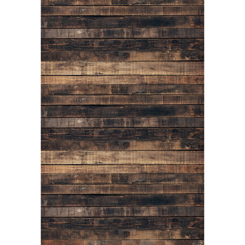 Savage Worn Brown Wood Printed Vinyl Backdrop (5x7')