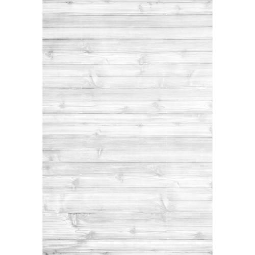 Savage Worn White Wood Printed Vinyl Backdrop (5x7')