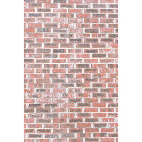 Savage Red Brick Wall Printed Vinyl Backdrop (5x7')
