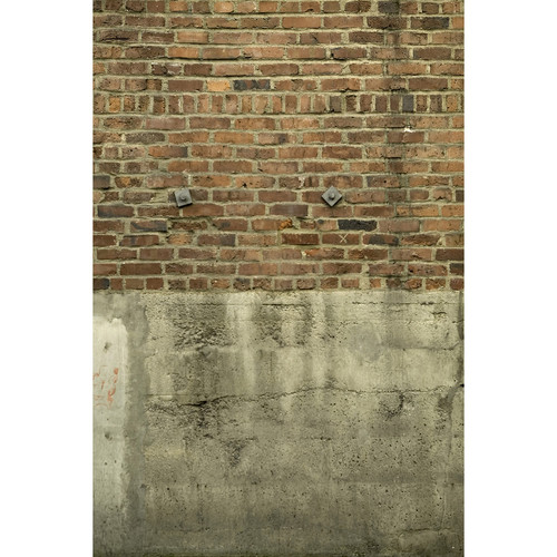Savage Brick & Cement Wall Printed Vinyl Backdrop (5x7')