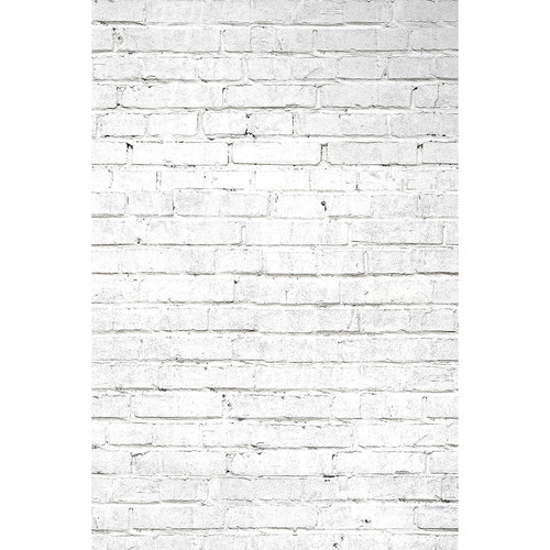 Savage White Brick Printed Vinyl Backdrop (5x7')