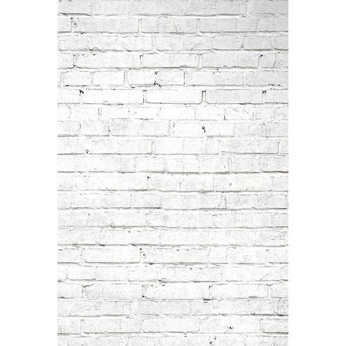 Savage White Brick Printed Vinyl Backdrop (5x7')