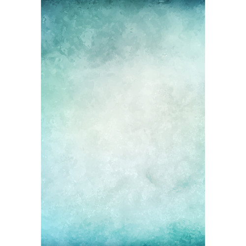 Savage Blue Watercolor Printed Vinyl Backdrop (5x7')