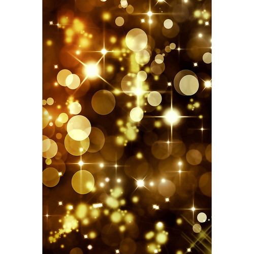 Savage Golden Party Lights Printed Vinyl Backdrop (5x7')