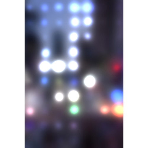 Savage Blurred City Lights Printed Vinyl Backdrop (5x7')