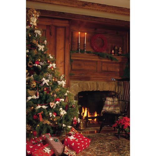 Savage Cozy Holiday Fireplace Printed Vinyl Backdrop (5x7')